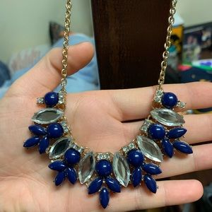 Blue/Silver/Gold necklace